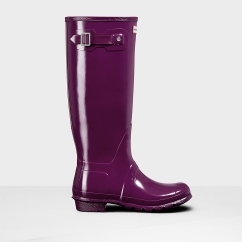 ORIGINAL TALL GLOSS Ladies Rubber Wellington Boots Violet