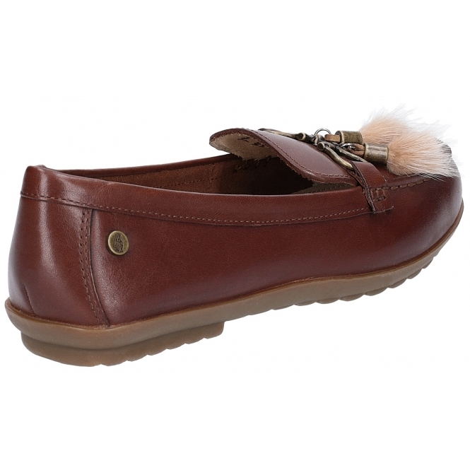 cdd7085cae2 Hush Puppies AIDI PUFF Ladies Leather Loafers Brown