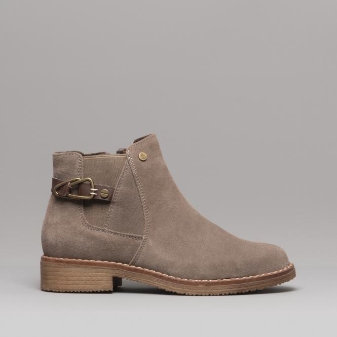 7df1a0c36f5 ALASKA Ladies Suede Ankle Boots Dark Grey