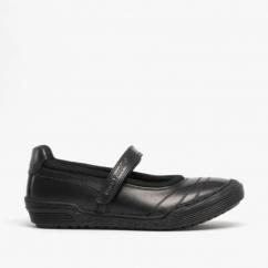 3ed3605322ed6 AMELIA JUNIOR Girls Leather Mary Jane School Shoes Black. Hush Puppies ...