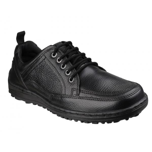 hush puppies belfast oxford mens dual fit shoes black