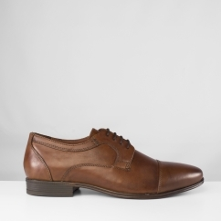 BERTRAND Mens Leather Formal Shoes Brown