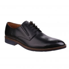 BO BRONSON Mens Leather Lace-Up Shoes Black