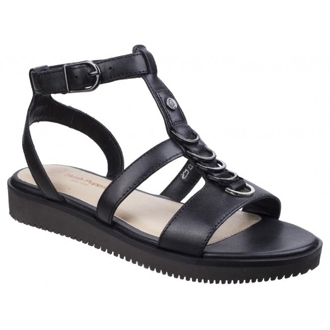 97136b6a38872 Hush Puppies BRIARD Black FINAL CLEARANCE. Hush Puppies BRIARD RING T-strap  Ladies Sandals Black