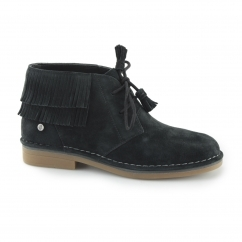 Hush Puppies CALA CATELYN Ladies Lace Up Ankle Boots Black |Shuperb