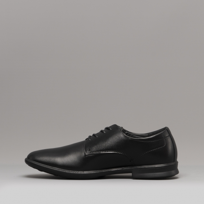 a81b7a6a3871d Hush Puppies CALE PLAIN TOE Mens Leather Derby Shoes Black | Shuperb