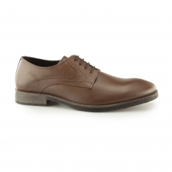 CARLOS LUGANDA Mens Lace Up Derby Shoes Brown
