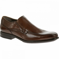 CARTER MADDOW Mens Leather Wide Fit Loafers Brown