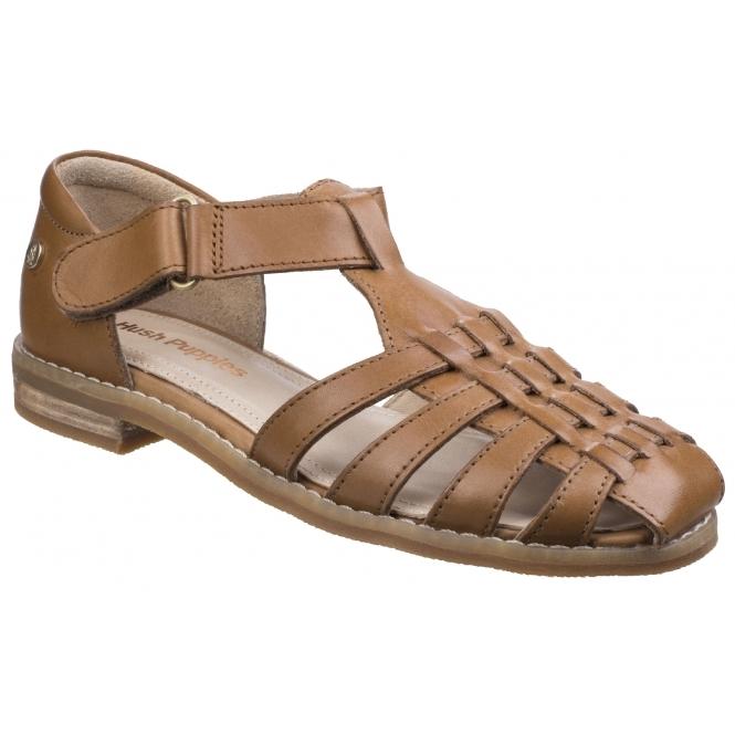 dfc0ad8dec74 CHARDON FISHERMAN Ladies Leather Sandals Tan By Hush Puppies