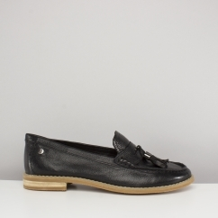 Hush Puppies CHARDON PENNY Ladies Leather Loafers Black