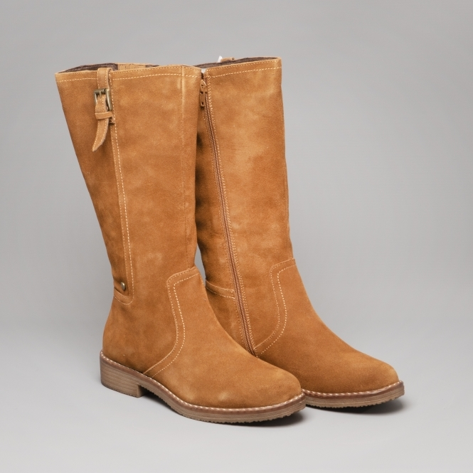 Ladies Boots Tancamel Cordoba Suede Tall Shuperb Hush Puppies XEqAxO