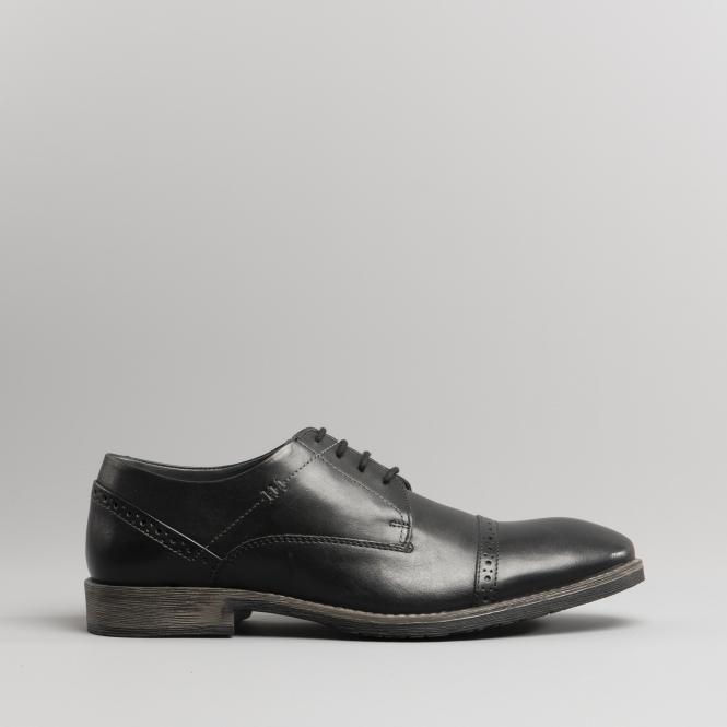 e28e577f327 CRAIG LUGANDA Mens Leather Derby Shoes Black