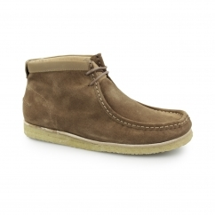 DAVENPORT HIGH Mens Suede Boots Tan