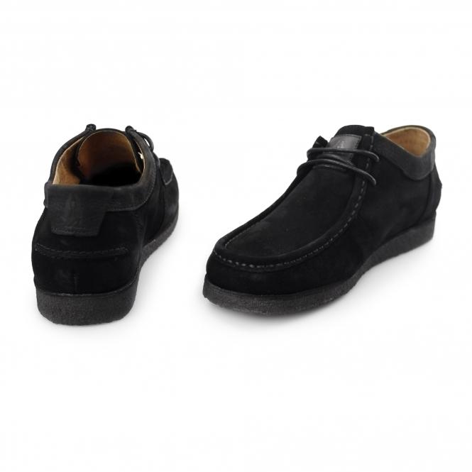 e80565a60c972 DAVENPORT LOW Mens Suede Shoes Black