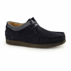 DAVENPORT LOW Mens Suede Shoes Navy