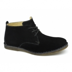Hush Puppies DESERT II Mens Wide Desert Boots Black