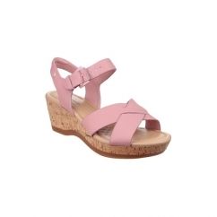 Hush Puppies EVA FARRIS Ladies Womens Wedge Sandals Rose
