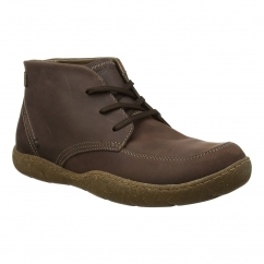 Hush Puppies FINNIAN SWAY Lace Up Mens Boots Dark Brown