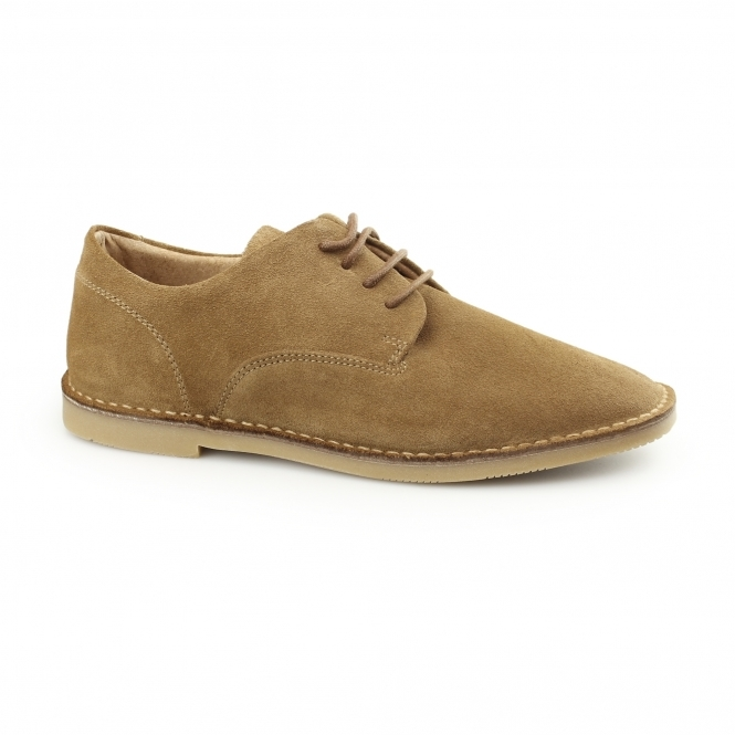 Hush Puppies GRANT Mens Suede Desert Shoes Tan