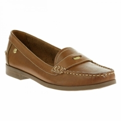 IRIS SLOAN Ladies Leather Loafer Shoes Tan