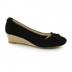 Hush Puppies KACIE MARTINA Ladies Suede Leather Heels Black