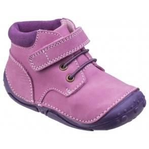 Cipriata Elvea Girls Knee High Retro Zip Up Durable Twin Buckle Boots Black
