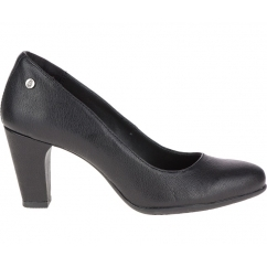 MINAM MEAGHAN Ladies Leather Heeled Court Shoes Black
