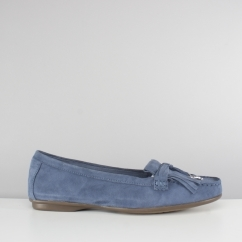 Hush Puppies NAVEEN ROBYN Ladies Leather Loafers Indigo