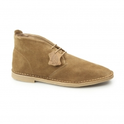 Hush Puppies NOLTON Mens Suede Cushioned Desert Boots Tan