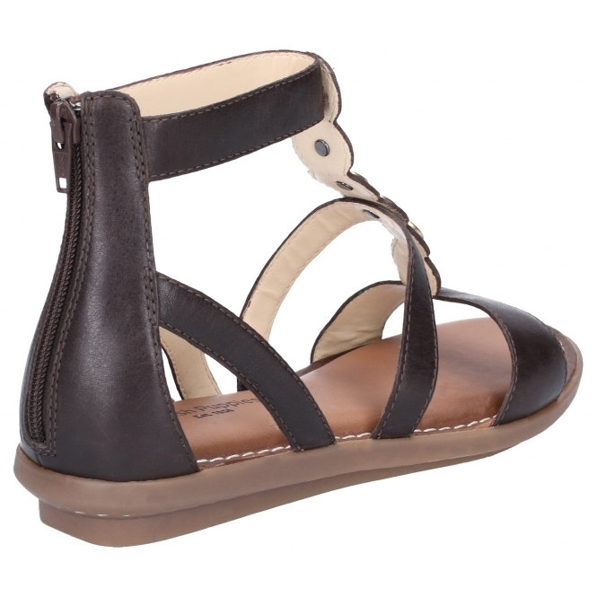 50% off for whole family san francisco Hush Puppies OLIVE GLADIATOR Ladies Leather Sandals Dark Brown ...