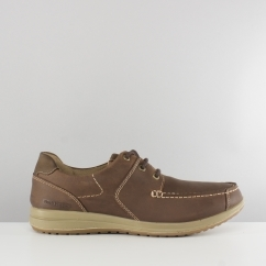 Hush Puppies RUNNER Mens Leather Casual Shoes Brown
