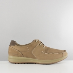 Hush Puppies RUNNER Mens Leather Casual Shoes Taupe