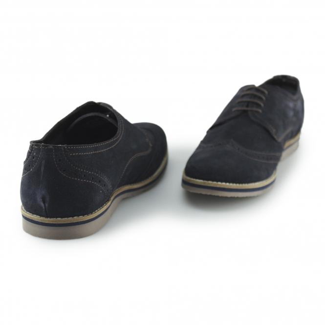 ee8e9c31574 Hush Puppies SEBASTIAN WINGTIP Mens Suede Brogue Shoes Navy