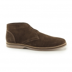SPENCER CHUKKA Mens Suede Leather Chukka Boots Brown