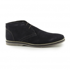 SPENCER CHUKKA Mens Suede Leather Chukka Boots Navy