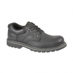 IAN Mens Leather Goodyear Welted Utility Shoes Black