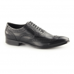 ANDERSON Mens Leather Lace Up Oxford Brogues Black