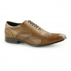 ANDERSON Mens Leather Lace Up Oxford Brogues Tan