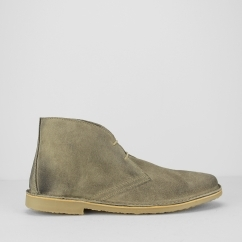 Ikon CANYON Mens Suede Lace Up Desert Boots Grey
