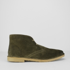 Ikon CANYON Mens Suede Lace Up Desert Boots Khaki