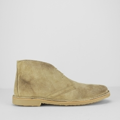 Ikon CANYON Mens Suede Lace Up Desert Boots Beige