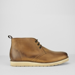 IKON EDDIE Mens Soft Leather Chukka Boots Tan