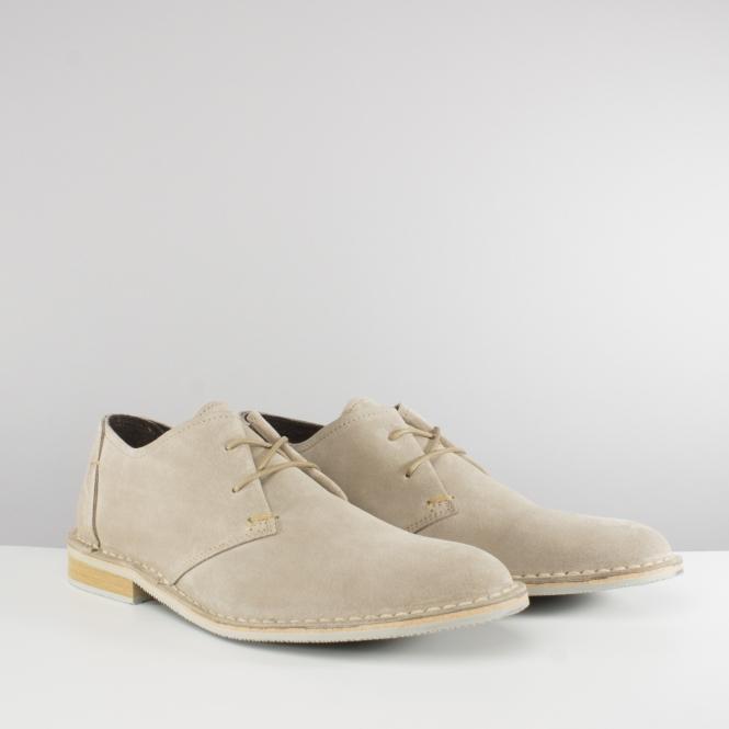 d3b90a3be1af Ikon FRANKLIN Mens Suede Leather Lace Up Derby Shoes Beige | Sji[ern