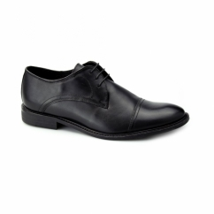 HARRIS Mens Leather Lace Up Shoes Black