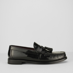 Mens IKON HOVE Mod Tassel Loafers In Black
