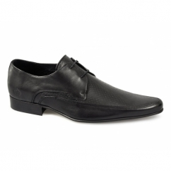 JAM Mens Leather Pointed Shoes Black