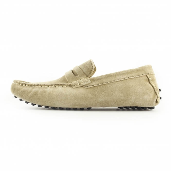 5f781acef9b Ikon JENSON Mens Suede Slip On Moccasin Driving Loafers Taupe
