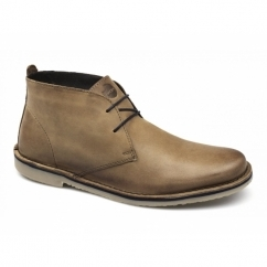 LUGER Mens Oil Pull Up Leather Desert Boots Tan