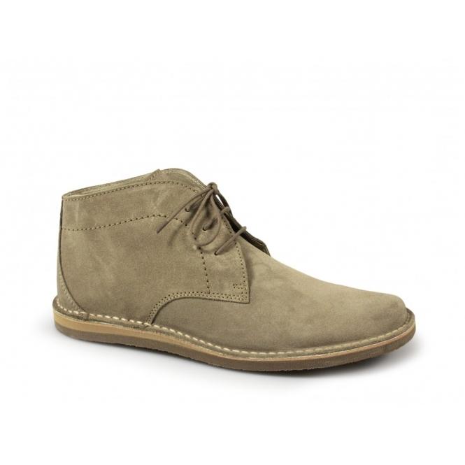 fad48fd2833 Ikon NOMAD Mens Lace-Up Soft Suede Desert Boots Beige