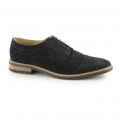 RUSSELL Mens Suede Lace Up Derby Brogues Navy